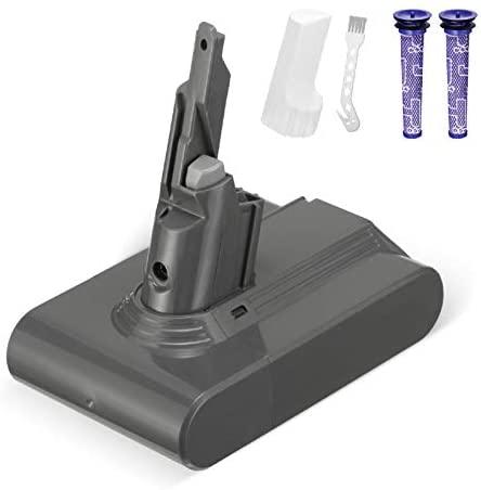 Powerextra Actualizado 21.6V 4000mAh Reempalzo Batería Compatible con Dyson V7 Animal Cordless Stick Vacuum V7 Motorhead Pro V7 Gatillo V7 Animal V7,2 Filtros y 1 Cepillo