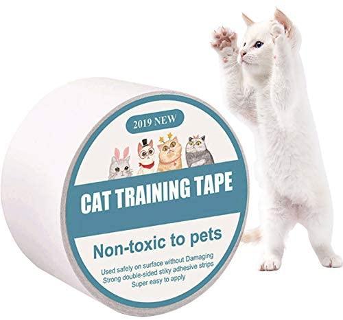 Protector de Muebles Gatos, Anti-Scratch Cat Training Tape, Sofá Protector De Muebles, Transparente Autoadhesivas de Gato Protector para Gatos y Perro,Protector de sofá para Detener,6.35x500cm