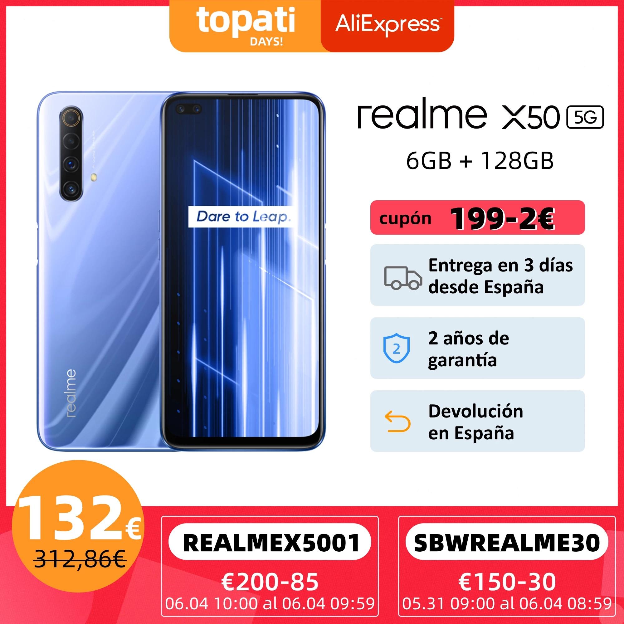 Global Version realme X50 X 50 5G 6GB 128GB 6.57»