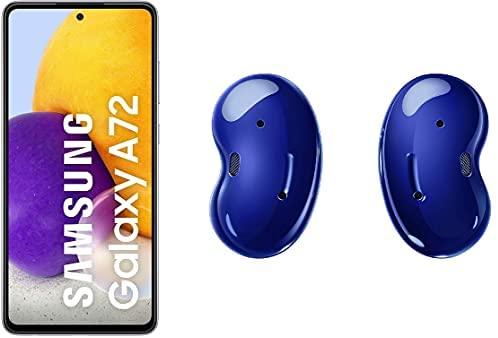 SAMSUNG A72 256GB Violeta con Buds Live Azul