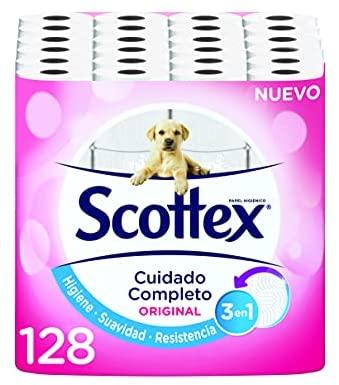 Scottex Original Papel Higiénico – 128 rollos