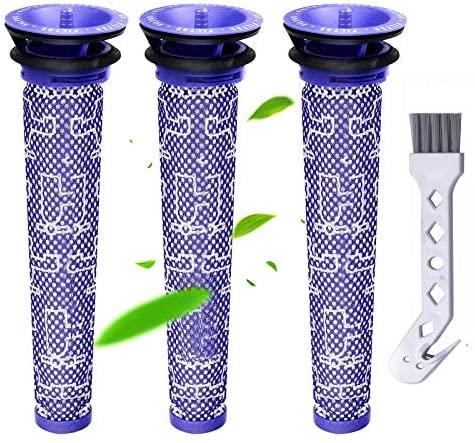 Smyidel Filtros Aspiradora para Dyson,Reemplazo de Pre Filtros Lavables para Aspiradora Dyson DC58 DC59 DC61 DC62 DC74 V6 V7 V8,Pack de 3(V6)