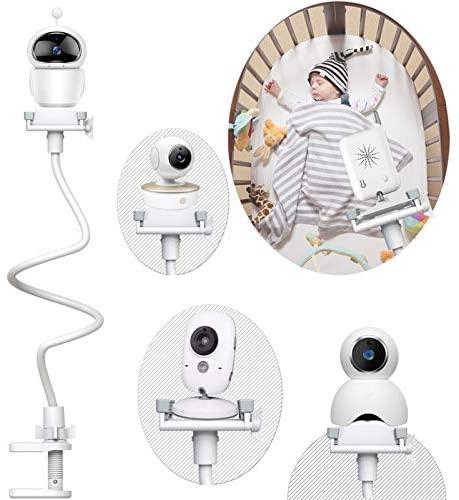 Soporte para Vigilabebes Universal  Soporte para Cámara Monitor de Bebé Ajustable sin Perforación  Compatible con la Mayoría de Monitores de Bebé
