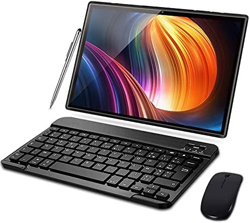 Tablet 10 Pulgadas Android 10.0 Tableta Ultra-Portátiles – ROM 32GB  3GB Expandible (Certificación Google gsm) -AOYODKG -Doble SIM – Batería de 8000mAh – WiFi —Ratón  Teclado y Otros – Negro