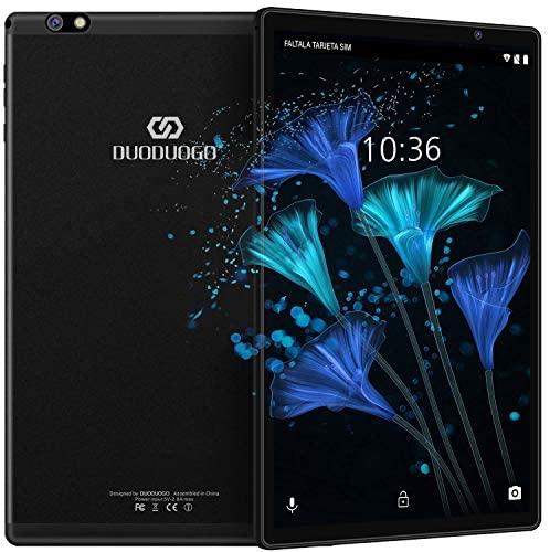 Tablet 10.1 Pulgadas Android 10 Quad Core, Certificación Google GMS 4 GB RAM 64GB/128GB ROM 8000mAh Tablet Dual SIM Tablet 10 Pulgadas Baratas y Buenas,IPS, 5+8 MP, Disney +, Netfilix