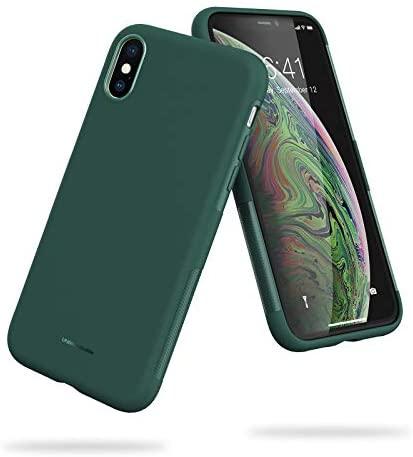 UNBREAKcable Funda para iPhone X, Funda para iPhone XS – [Anti-choques, Antideslizante, Ultrafino] Carcasa Protectora con TPU Suave para iPhone X/XS (5,8´´) -Verde Oscuro
