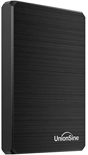 "UnionSine Ultra Slim Disco Duro Externo Portátil 2.5"" 750GB, USB3.0 SATA HDD Almacenamiento para PC, Mac, MacBook, Chromebook, Xbox, PS4 (Color Negro)"