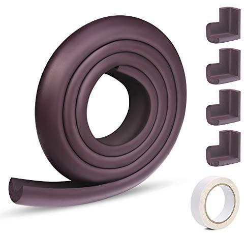 Vicloon Protector Borde, Protectores Para Esquinas y Bordes, Bebe Protecciones Borde Cobertura 2m y 4 Protector de Esquinas, Esquinas y Bordes de Muebles Proteger, Proteger Bebe (Púrpura)