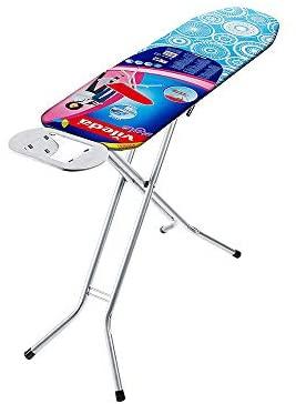 Vileda Universal – Tabla de planchar plegable, pequeña y estable, soporte resitente para plancha, con altura regulable, medidas: 110 x 30 cm, color azul