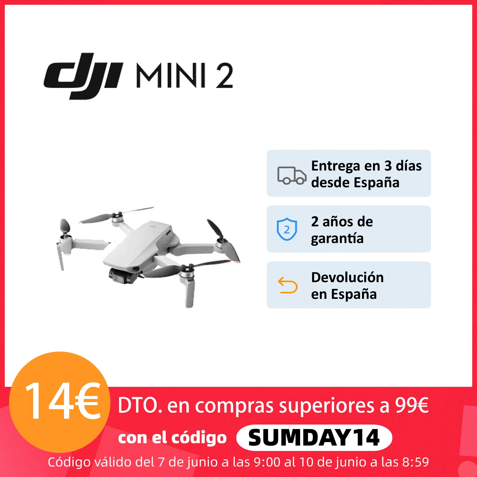 Dron DJI Mini 2|DJI Mini 2 Combo, 4K
