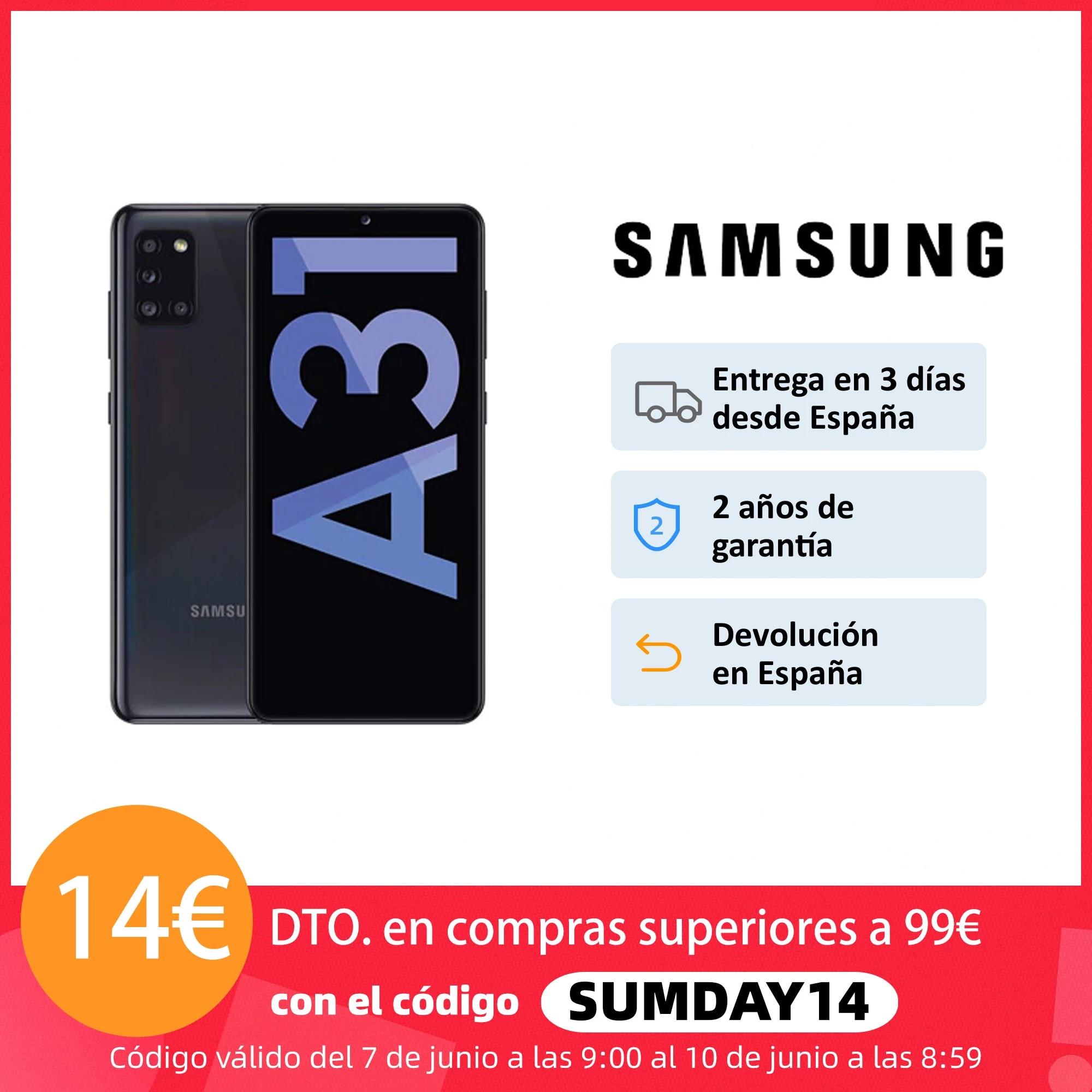 Samsung Galaxy A31 Android smartphone, 4GB + 64/128GB, 6,4 «FHD + screen, 5000 mAh battery, 4 cameras, Octa-core, Samsung Knox»