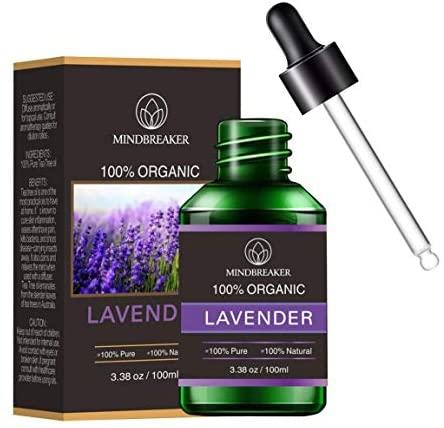 Aceite Esencial de Lavanda Orgánica, Aceites Perfumados de Aromaterapia Orgánica Aceites Esenciales 100% Puros Terapéuticos de Grado Premium – Botellas (100 ml)