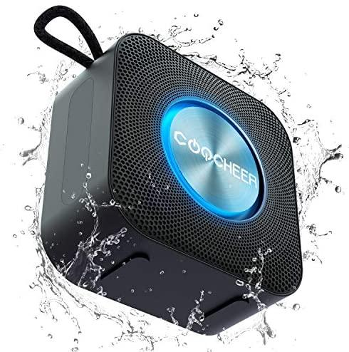 Altavoces portátiles Bluetooth,Inalámbrico luz de Fiesta Altavoz pequeño, Caja de música TWS Bluetooth 5.0 con micrófono Incorporado, DSP/TF/AUX, Resistente al Agua, 10H, para Exteriores