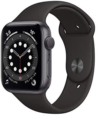 AppleWatch Series6 (GPS, 44 mm) Caja de Aluminio en Gris Espacial – Correa Deportiva Negra
