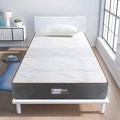 BedStory Colchon Viscoelastico 90x190cm Colchon Aloe Vera Antiácaros e Hipoalergénicos colchón Hotel la Estructura de 7 Zonas Firmeza Media Nuevo