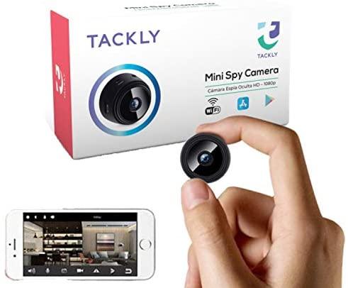 Cámara espía Oculta HD 1080p – Mini cámara espía WiFi para Ver en el móvil – Vigilancia camuflada con Sensor de Movimiento y visión Nocturna
