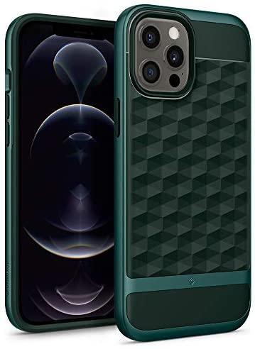 "Caseology Parallax Funda Compatible con iPhone 12 Pro MAX (6.7"") – Midnight Green"