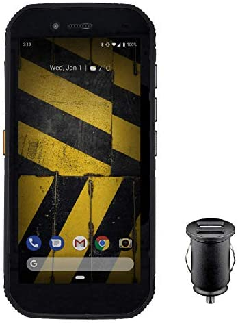 """CAT S42 Smartphone (13,97cm (5,5"""") Pantalla HD+, 32 GB de Memoria Interna (Ampliable a 128 GB) y 3 GB de RAM, Dual-SIM, Android 10) – Edición Exclusiva para Amazon, Incl Adaptador de Coche 12V, Negro"""
