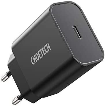 CHOETECH Cargador Rápido iPhone, Cargador USB C Power Delivery + QC 3.0 para iPhone 12/12Pro/11/11Pro/SE 2/XS/XR/X/8, Airpods, Galaxy S20/S10/S9/S8/Note20/Note10, Huawei, Xiaomi, Redmi Note8, iPad Pro