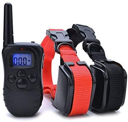 Collar de Adiestramiento para Perros, Resistente al Agua con vibración y Sonido, Rango Remoto de 300 Metros – 2 Collars