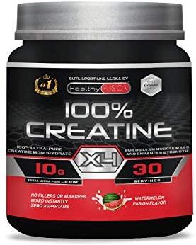 Creatina monohidrato pura microfiltrada con vitamina B6  La única creatina 100% pura  Favorece el crecimiento muscular y la resistencia  Absorción rápida y completa  30 tomas sabor a sandía