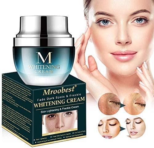Crema Blanqueadora, Whitening Cream, Crema Iluminadora, Crema Aclaradora, Tratamiento facial antienvejecimiento para hiperpigmentación, Tono de piel desigual, puntos oscuros y daños del sol