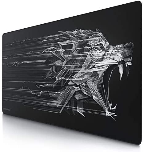 CSL – Alfombrilla de ratón para Gaming, Titanwolf, 1200 x 600 mm, tamaño Grande, Mejora la precisión y la Velocidad, XXL, por Ejemplo, para ratón y Teclado Logitech