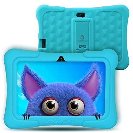 Dragon Touch Tablet para Niños con WiFi Bluetooth 7 Pulgadas 1024×600 Tablet Infantil de Android 9.0 Quad Core 2GB 16GB Doble Cámara Kid-Proof Funda Tablet Niños Educativo Y88X Pro Azul
