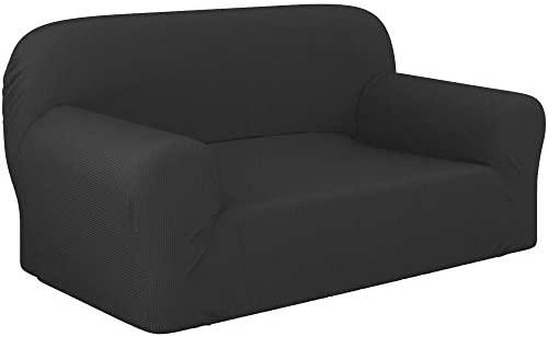 Dreamzie – Fundas Sofa Elasticas 2 Plazas – 60% Algodón Reciclado – Certificada Oeko-Tex® sin Productos Químicos – Fabricada en España – Gris