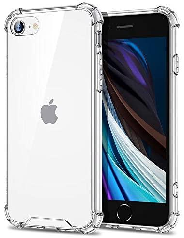 Eono Essentials Funda Híbrida para iPhone SE 2020/8/7 [Funda Transparente HD][Resistente Amarilleo][Funda PC Rígida][Parachoques TPU Blando][Funda a Prueba de Golpes][Transparente]