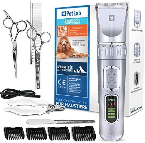 Esquiladora profesional para perros y gatos de pelo largo, cortadora de pelo largo, cortadora de pelo para perros y gatos