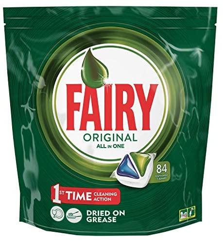 Fairy Original All in One, Pastillas Lavavajillas, 84 Cápsulas, Óptima Limpieza