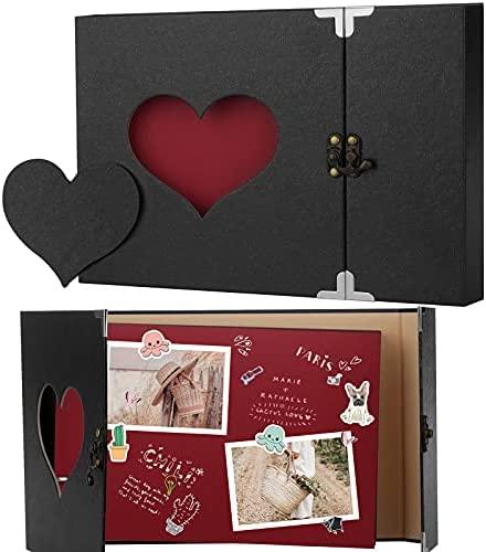 Firbon Scrapbook Album de Fotos, álbum de Recortes, DIY Autoadhesivo Pegar y Escribir Libros de Memoria para Regalos de Boda Aniversario Cumpleanos Recuerdos Familiares Bebé