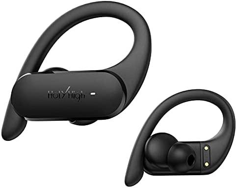 HolyHigh Auriculares Inalámbricos Bluetooth, Auriculares Inalambricos Deportivos Bluetooth 5.0 IPX7 Impermeable Auriculares con Cancelación de Ruido de 25H Control Táctil