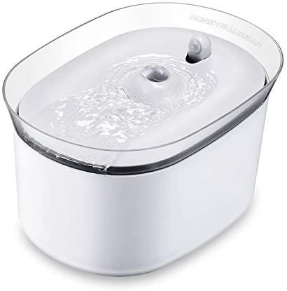 HoneyGuaridan W25 dispensador Silencia Fuente de Agua Automática Inteligente con Sensor de Infrarrojos,bebederos Mascotas,Fuentes para Perros y Gatos – Pack de 2 Filtros de Carbón