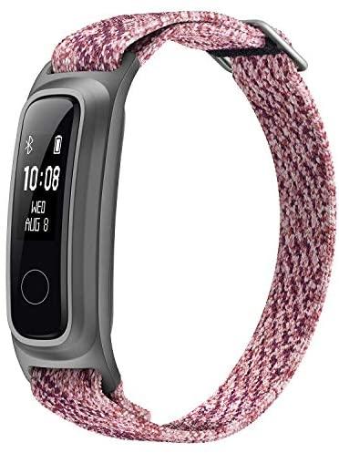HONOR Band 5 Sport Smartwatch, Pulsera de Material ecológico con 2-Vías Vistiendo Pulsera de Actividad para Nadando Corriendo Baloncesto, Sakura Rosado