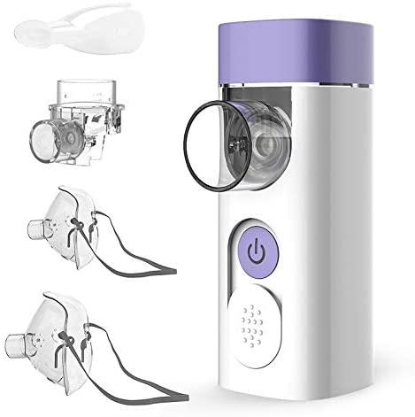 HYLOGY Nebulizador Inhalador Portátil, Recargable USB Kit con Boquilla y Máscara para, Nebulizador silenciosos para adultos y niños.