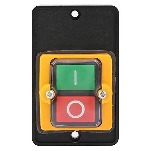 Hyuduo Interruptor de Botón Pulsador, Botón de Interruptor de La Máquina Ac 220 V / 380 V 10A, Botón de Encendido/Apagado Integrado Impermeable Y A Prueba de Polvo