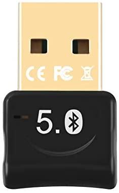 JeoPoom Adaptador Bluetooth 5.0, Adaptador Bluetooth para TV/Auricular/Altavoz/Ratón, Plug y Play Emisor Receptor EDR y 4.0BLE Tecnología, Compatib le con Windows 10/8.1/8 /7