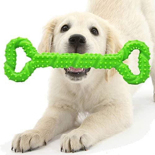 Juguetes para Perros Grandes Resistentes, Perro Juguete Interactivo, Juguetes para Cachorros para la Dentición, Seguros y Duraderos Mascotas Perros Accesorios (Verde)