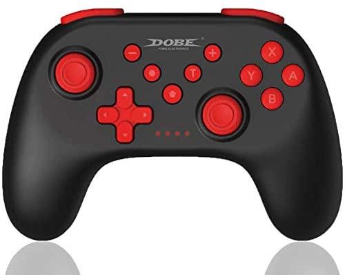 Maegoo Mando para Nintendo Switch, Mando Switch Pro Bluetooth Remote Inalámbrico Gamepad Joypad Joystick con Sensor 6 Gyro Axis, Turbo y Dual Motor Vibration