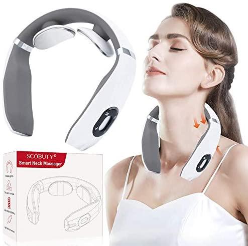 Masajeador de Cuello, Masajeador Electromagnético, Masajeador de Cuello Multifunción, Cuello relajante, masajeador de cuello de pulso electromagnético con función de calefacción es adecuad
