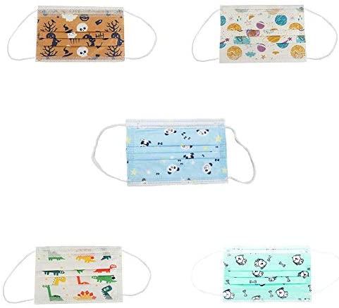 MASK666 50 mascarillas desechable infantil con 5 dibujos diferentes de niño de 3 capas con filtración bacteriana superior a 95% – Entrega rápida – Stock en España
