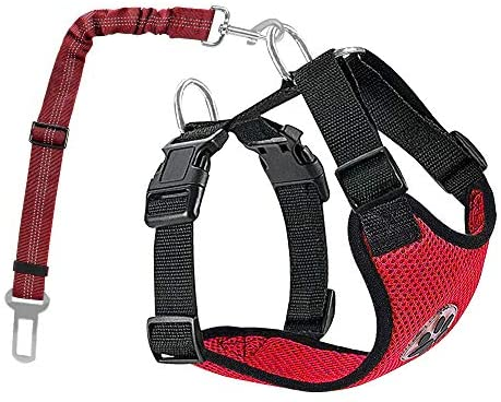 Nasjac Juego de Cinturones de Seguridad para Perros, cinturón de Seguridad para Mascotas con cinturón de Seguridad