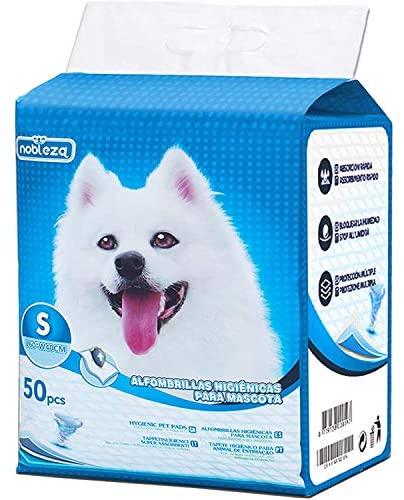 Nobleza – 50 x Empapadores Perros Alfombrilla higiénica de Entrenamiento para Perros. Ultraabsorbente 40cm*60cm.