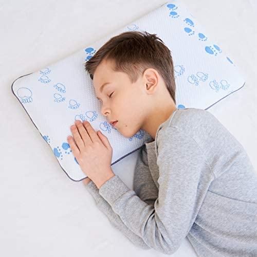 SIKAINI Cojín de Espuma viscoelástica para niños Cojín de bebé para Cojines Planos para niños (3-8 años)
