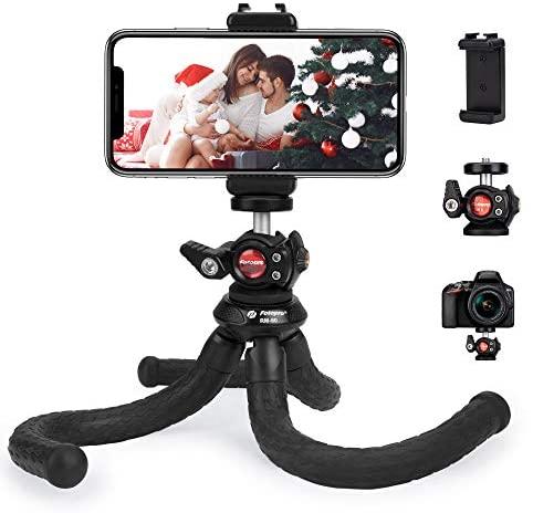 Trípode para Teléfono Móvil, Trípode de Cámara, Mini Trípode Bluetooth, Trípode Selfie Stick, con un Trípode de Tornillo Universal de 1/4 de Pulgada para iPhone、Samsung, Xiaomi、Huawei、 Gopro.