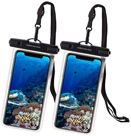 UNBREAKcable Funda Impermeable Universal – Bolsa para móvil estanca a Prueba de Agua IPX8 para iPhone XS MAX/XR/XS/X / 8 / 8plus / 7 Samsung Galaxy S10Plus / S10 Huawei P30 Pro / P30-2 Paquete