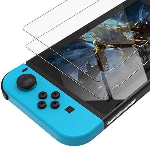 UNBREAKcable Protector de Pantalla para Nintendo Switch 2017 [2-Pack] [0.3 mm, Dureza 9H] Protector de Pantalla de Cristal Templado Premium para Nintendo Switch 2017