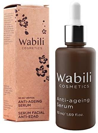 Wabili Cosmetics – Sérum Facial Antiedad Hidratante con Ácido Hialurónico, Colágeno, Vitamina y E y Aloe Vera  Tratamiento Natural Anti-envejecimie…